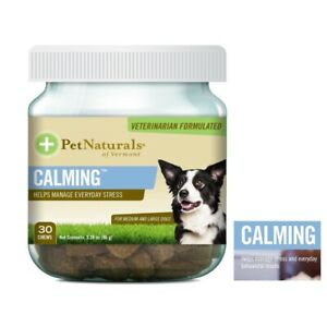 Dog Calming Chews Dogs Anxiety Stress Relief Natural Calm Treats