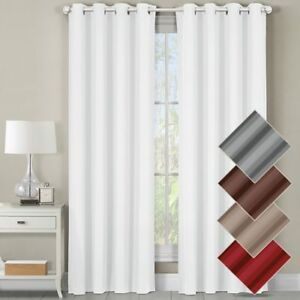 Luxor Heavyweight %100 Cotton Room-Darkening Grommet Curtains Single Panel