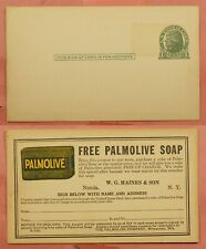 DR WHO PALMOLIVE SOAP ADVERTISING POSTAL CARD UNUSED 159920
