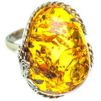 Baltic Amber 925 Sterling Silver Ring Size 6 Ana Co Jewelry R58275F