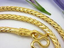 "Beauty! Thai Diamond-Cut Braided Chain 20"" Necklace 22K 24K Gold Gp Baht Jewelry"