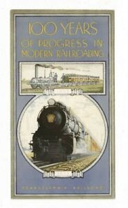 Pennsylvania Railroad 100 Years of Progress In Modern Railroading 1933 Brochure