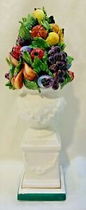 Chelsea House Porcelain Fruit Topiary Figurine & Decorative Statue Made in Italy