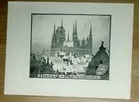 Danzig Marienkirche alte Ansicht Druck 1920 Städteansicht Pommern Gdansk Osten