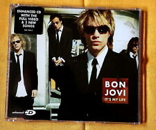 Bon Jovi It's My Life 3 tracks CD Single + video hard rock glam pop