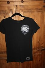 Katydid Peace Love and Hockey black tee size L