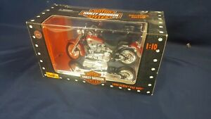 Maisto Harley Davidson 1999 FLSTF Fat Boy 1:10 Scale 31606 Collector Edition NIB