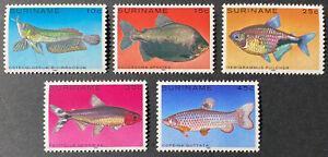 SURINAME  557 - 561  Beautiful Mint  NEVER  Hinged Set  FISH  JM