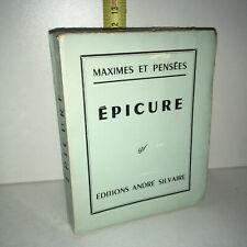 Charles Batteux MAXIMES ET PENSEES, EPICURE 341-270 av. JC éd° SILVAIRE YY-14057
