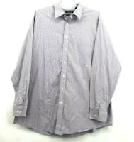 Roundtree & Yorke Mens 3XT Tall Long Sleeve Button Up 80's Two-Ply Fabric Shirt