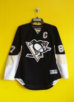 PITTSBURGH PENGUINS #87 SIDNEY CROSBY REEBOK NHL HOCKEY JERSEY BOYS - L/XL