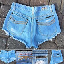 Vintage Brittania Denim Shorts Cut Offs Short Shorts 27 (26� Waist) Light Blue