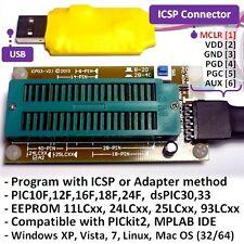 ICA03 USB Microchip PIC/dsPIC/EEPROM ICSP/ZIF programmatore Socket Set @ PICKIT 2 SW