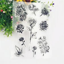 Clear Silicone Rubber Stamp Flower Rose Scrapbooking Diary Card DIY Decor Craft