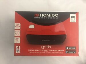 Homido Grab Red Universal Virtual Reality Headset for Smartphones