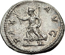 SEVERUS ALEXANDER -226AD Rome Authentic Ancient Silver Roman Coin PAX i65411