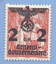 Germany Nazi Third Reich 1940 Occupation Poland Swastika Eagle 2 Stamp WW2 ERA