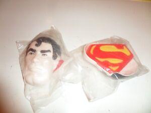 Vintage 1977 Superman Hard Plastic Cake Topper Two Piece Set