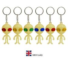 GLOW IN THE DARK ALIEN KEYCHAIN Pinata Toy Loot/Party Bag Fillers Key Chain Ring