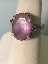 KABANA STERLING SILVER & 10 CT AMETHYST RING. SIZE 4.25