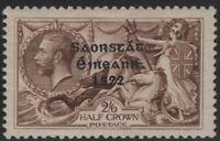 Ireland 1922 SG64 2s6d Chocolate-Brown Seahorse High Value MH OG CV £50+
