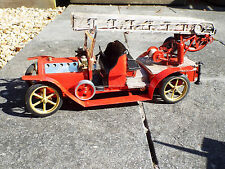 Vapeur tin toy Fire Engine BING CARETTE Style