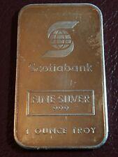 1 silver bar RARE 1 OZ Johnson Matthey Variety Scotia Bank