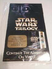 Rare New Star Wars Trilogy Fold Out Paperboard Advertising In Plastic