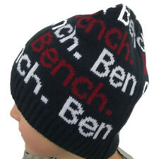 BENCH Mütze original + neu dunkelblau - rot Wintermütze Beanie Jungen + Mädchen