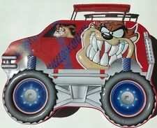 "Looney Tunes Tasmanian Devil Tin Lunch Box Monster Truck 8"" x 6"" Warner Bros"