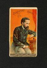 Zukertort (Chess) 1888 N162 Goodwin Champions #50 - Old Judge Gypsy Queen - RARE