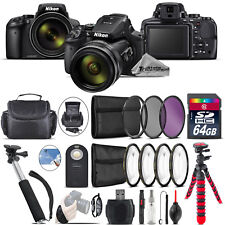 Nikon COOLPIX P900 Digital Camera + Spider Tripod + Monopad + Case - 64GB Bundle