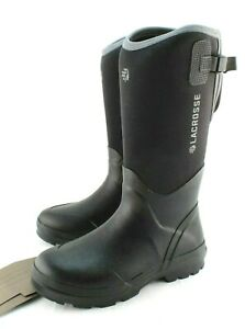 LACROSSE Alpha Range Size 8 Black Waterproof Men Neopreme Work Boots MSRP $130