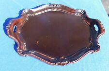 Hand Carved Edge Wood Composite Victorian Era Serving Tray