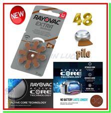 48 Batterie RAYOVAC 312 PR41 Pile per Apparecchi Acustici Protesi Udito Sordità
