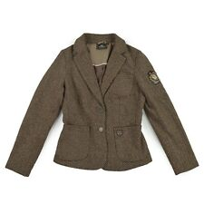 HV POLO Damen Jacke S 36 Wolle Anteil Blazer CLUB TWEED braun Jacket wie NEU
