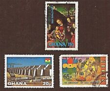 GHANA, 3 1981&1982 KPONG DAM, SCOUTING + Stamps, Used, See Descriptions   FUS896