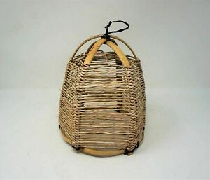 Rustic Vintage style Bamboo straw handmade Pendant Hanging Lamp Shade Natural