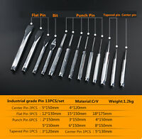 13PCS/set multi-function Flat chisel pin Conical Center Punches hand tool W130