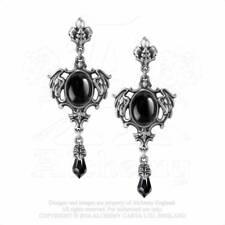 Alchemy England Seraph Of Darkness E351 Black Oval Dropper Earrings