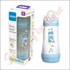 MAM Easy Start - Biberon Anti-Colique bleu 320 ml avec Tétine débit 3,  0 Mois +