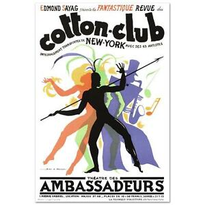"""Cotton Club"""" Hand Pulled Lithograph by the RE Society, Orig. by Jean Mercier"""