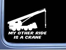Crane My Other Ride L989 8 inch sticker decal operator construction