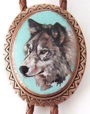 Classic Wolf Bolo Tie