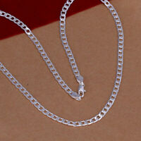 """Sterling Silver 1.8mm CURB Chain Necklace 925 Italy 16, 18, 20, 22, 24, 30"""" NEW"""