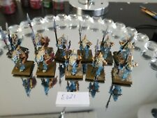 Warhammer fantasy AOS Saurus Temple guard older metal oop painted x11 lotE021