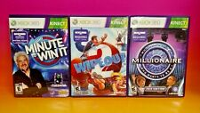 Be a Millionaire Minute to Win It Wipeout 2 Microsoft Xbox 360 TV Game Show Lot