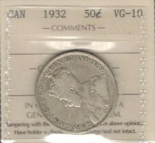 1932 Fifty Cents ICCS VG-10 * RARE Date ONLY 19,213 Major KEY King George V Half
