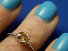 .85ct Oval Yellow Sapphire Filigree Sterling Silver Ring Free Sizing