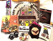 Haunted House Halloween Party Pack Cupcake Stand Bags Napkins Flag 8 items Lot